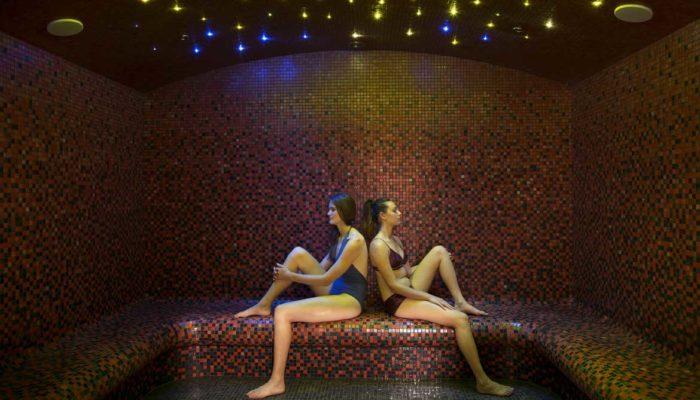 Cure thermale Châtel-Guyon - Le hammam au plafond étoilé du spa thermal